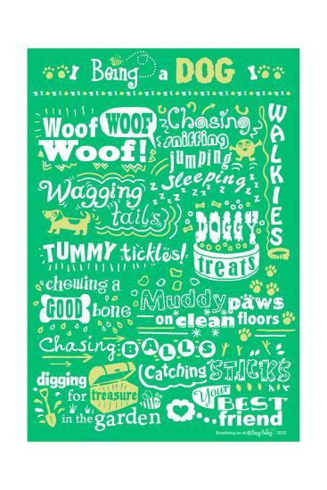 Busy Being a Dog-Busy Being-Giclee Print