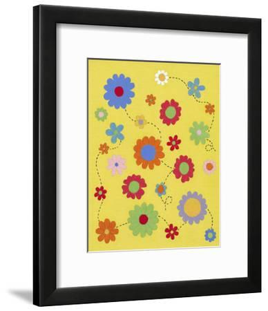 Busy Blooms-Syeda Mleeha Shah-Framed Art Print