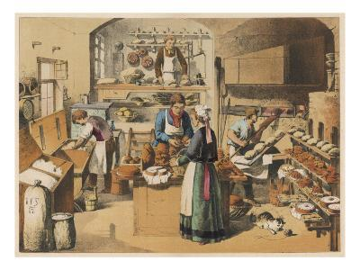 Busy French Bakery--Giclee Print