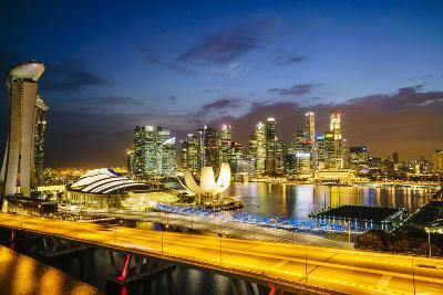 Busy Roads Leading to the Marina Bay Sands-Fraser Hall-Photographic Print