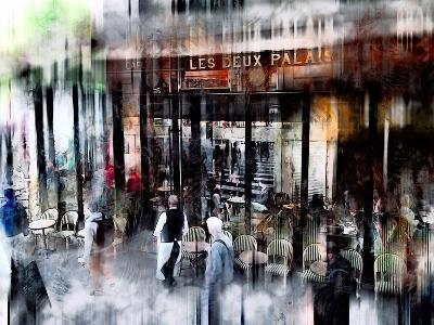 Busy Sidewalk-John Rivera-Photographic Print