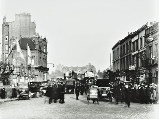 Busy Street by Stamford Bridge Stadium, (Chelsea Football Ground ...