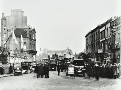 Busy Street by Stamford Bridge Stadium, (Chelsea Football Ground), Fulham, London, 1912