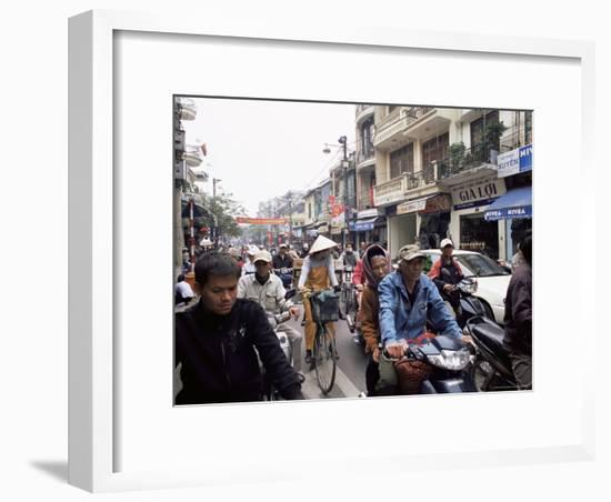 Busy Street, Hanoi, Vietnam, Indochina, Southeast Asia, Asia-Upperhall Ltd-Framed Photographic Print