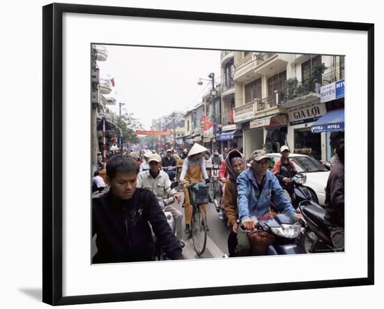 Busy Street, Hanoi, Vietnam, Indochina, Southeast Asia, Asia-Upperhall Ltd-Framed Photographic Print