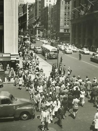 Busy Street in New York City , (Elevated View)-George Marks-Photographic Print