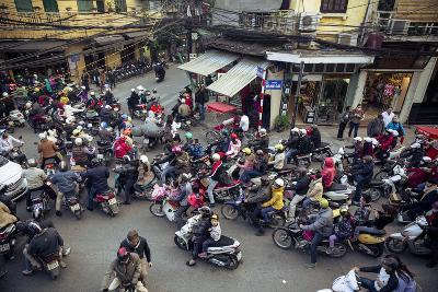 Busy Traffic in the Old Quarter, Hanoi, Vietnam, Indochina, Southeast Asia, Asia-Yadid Levy-Photographic Print
