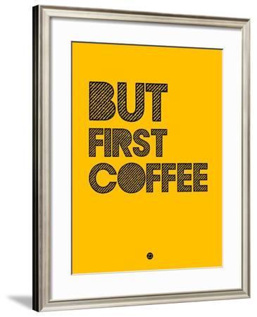 But First Coffee 3-NaxArt-Framed Art Print