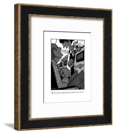 """But having less legroom puts you closer to your screen."" - New Yorker Cartoon-William Haefeli-Framed Premium Giclee Print"