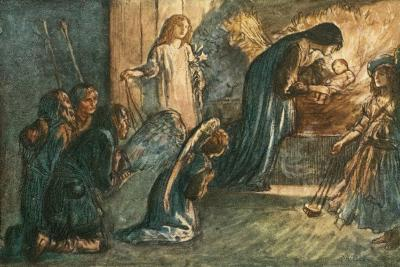 But See! the Virgin Blest Hath Laid Her Babe to Rest-Robert Anning Bell-Giclee Print