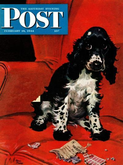 """""""Butch Ate the Coupons,"""" Saturday Evening Post Cover, February 19, 1944-Albert Staehle-Giclee Print"""