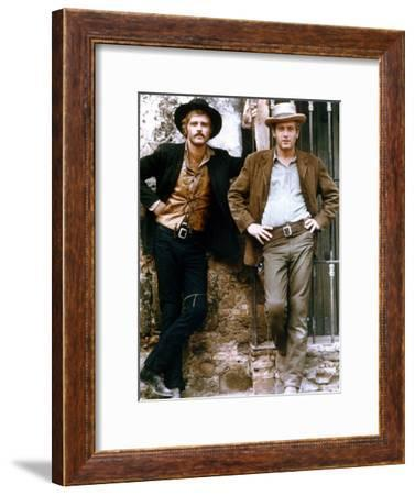 Butch Cassidy and the Sundance Kid 1969 Directed by George Roy H Robert Redford / Paul Newman--Framed Photo