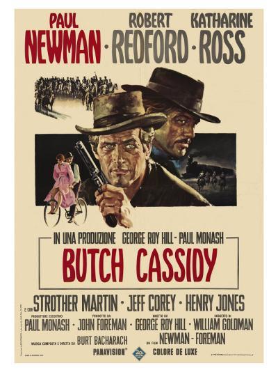 Butch Cassidy and the Sundance Kid, Italian Movie Poster, 1969--Art Print