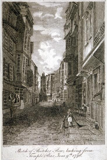 Butcher Row, Westminster, London, 1796-Edward Dayes-Giclee Print