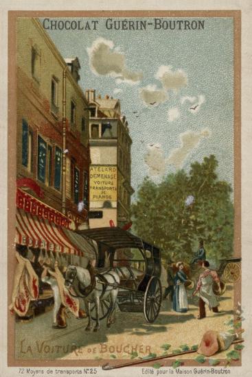 Butcher's Wagon--Giclee Print