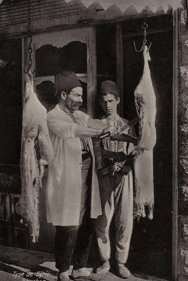 Butcher, Syria--Photographic Print