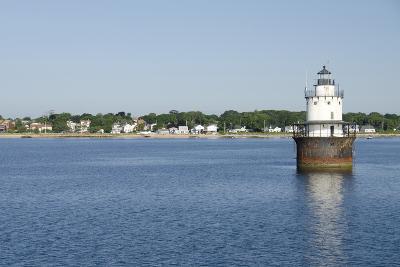 Butler Flats Light, Spark Plug Lighthouse at New Bedford Harbor, Massachusetts, USA-Cindy Miller Hopkins-Photographic Print