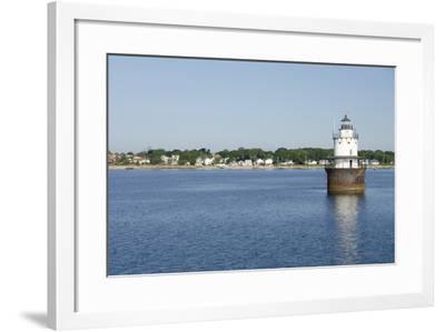 Butler Flats Light, Spark Plug Lighthouse at New Bedford Harbor, Massachusetts, USA-Cindy Miller Hopkins-Framed Photographic Print