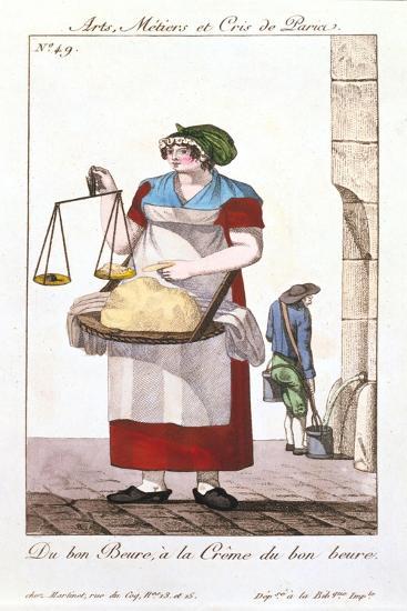 Butter Seller, 1826--Giclee Print