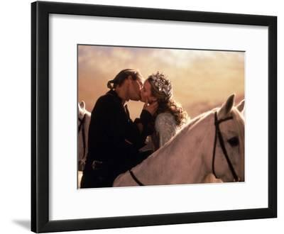 Buttercup and Westley Kissing on Horseback
