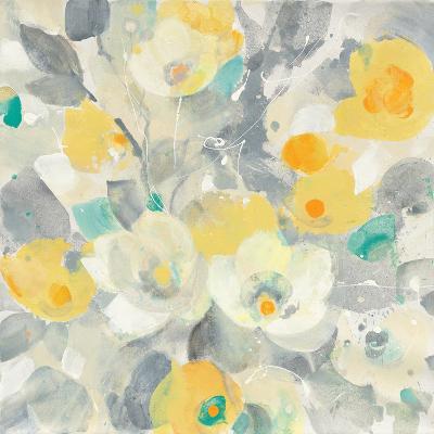 Buttercups I Teal-Albena Hristova-Art Print