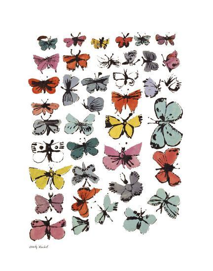 Butterflies, 1955 (Many/Varied Colors)-Andy Warhol-Art Print