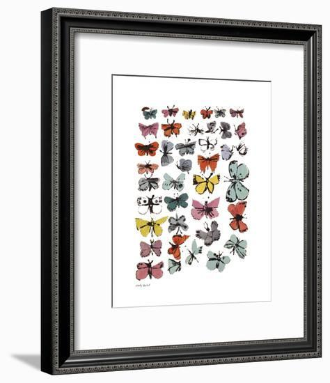 Butterflies, 1955 (Many/Varied Colors)-Andy Warhol-Framed Art Print
