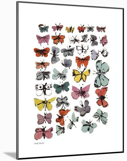 Butterflies, 1955 (Many/Varied Colors)-Andy Warhol-Mounted Print