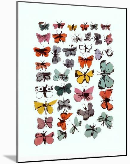 Butterflies, 1955-Andy Warhol-Mounted Print