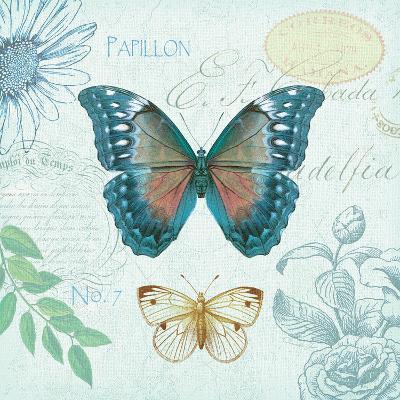 Butterflies and Botanicals 1-Christopher James-Premium Giclee Print