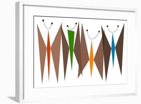 Butterflies - Browns-Tonya Newton-Framed Premium Giclee Print