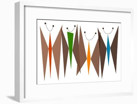 Butterflies - Browns-Tonya Newton-Framed Art Print