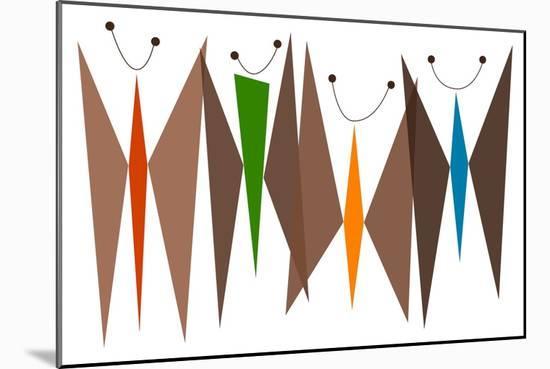 Butterflies - Browns-Tonya Newton-Mounted Premium Giclee Print