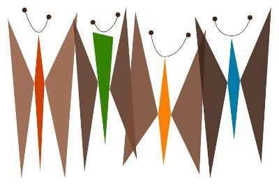 Butterflies - Browns-Tonya Newton-Art Print