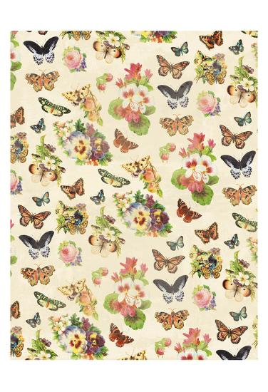 Butterflies Flowers-Jace Grey-Art Print