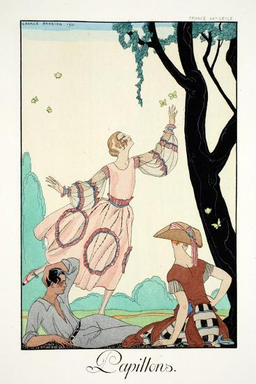 Butterflies, from 'Falbalas and Fanfreluches, Almanach des Modes Pr?sentes,-Georges Barbier-Giclee Print