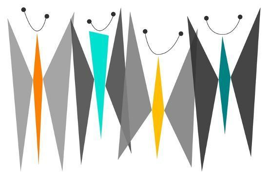 Butterflies - Grays-Tonya Newton-Premium Giclee Print