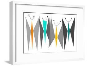 Butterflies - Grays-Tonya Newton-Framed Premium Giclee Print