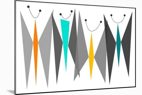 Butterflies - Grays-Tonya Newton-Mounted Premium Giclee Print