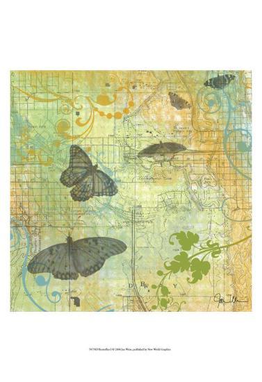 Butterflies I-Jan Weiss-Art Print