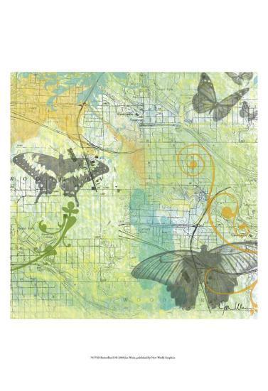 Butterflies II-Jan Weiss-Art Print