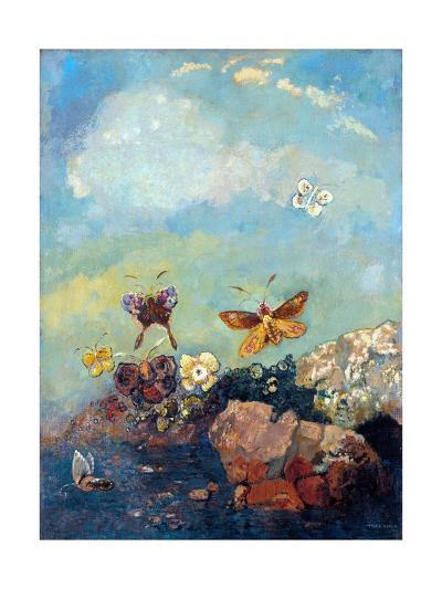 Butterflies-Odilon Redon-Giclee Print