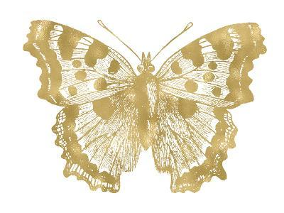 Butterfly 1 Golden White-Amy Brinkman-Art Print