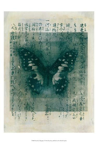 Butterfly Calligraphy I-Elena Ray-Art Print