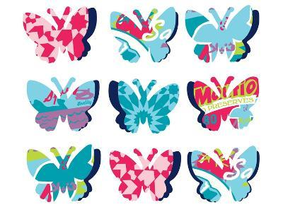 Butterfly Collage--Giclee Print