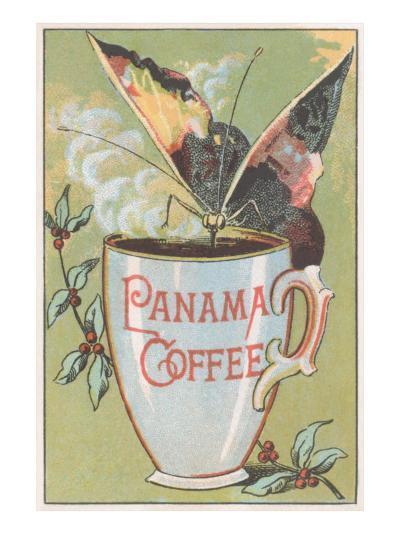 Butterfly Drinking Panama Coffee--Art Print