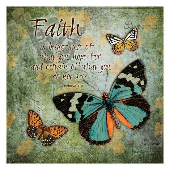Butterfly Faith-Carole Stevens-Art Print