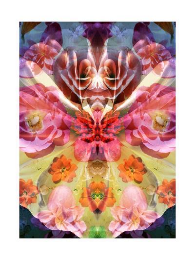 Butterfly Flower Ornament-Alaya Gadeh-Art Print