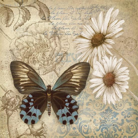 Butterfly Garden I-Conrad Knutsen-Art Print