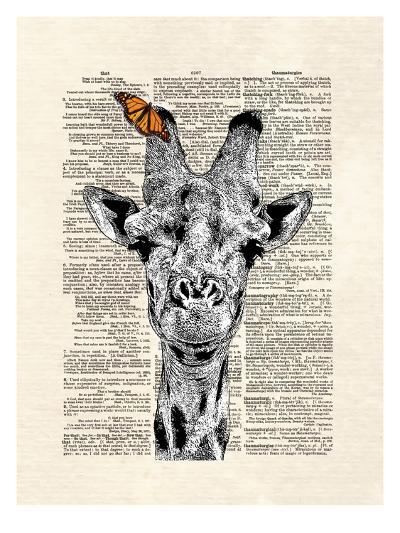 Butterfly Giraffe-Matt Dinniman-Art Print